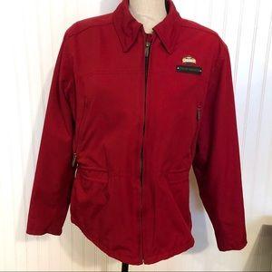 Women's HARLEY-DAVIDSON Red Nylon Riding Jacket